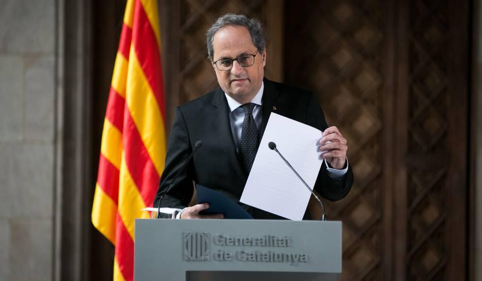 Torra ruft vorgezogene Neuwahlen in Katalonien aus